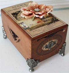 Altered cigar box....OMG! YES! YES! We have so many. Awesome birthday gifts