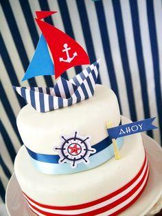 Inspiracje mamy by Agata: Miesiąc urodzinowych inspiracji - styl marynarski