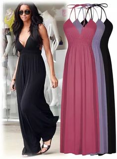 Cheap dress clip, Buy Quality dress sleeveless directly from China dress german Suppliers: 2016 Summer Hawaiian Beach Party Sun Long Dress Women Casual Deep V Neck Maxi Dress Gowns Red Black Lavender Women Cloth Casual Summer Dresses, Beach Dresses, Casual Dresses For Women, Clothes For Women, Maxi Dresses, Sun Dresses, Dress Beach, Summer Outfits, Casual Outfits