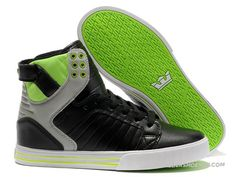 Supra Skytop Black Grey Neon On Sale