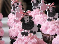 pink poodly cupcakes