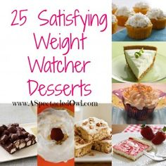 Recipes For Weight Watcher Desserts And Cakes