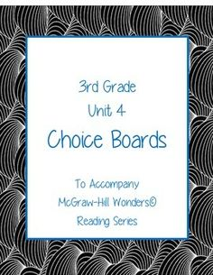 "Here's what teachers are saying about choice boards: -""Where is the a+ rating!!! This is absolutely fabulous!! Kids love to have a choice. I use it during independent work time. There are things that are easy to do and options that are more complicated so it meets a variety of levels. I will definitely be purchasing the rest of the units."" -""Just found these and loved them! Would also like to find these for other grades."""