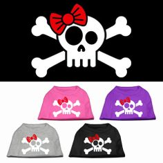 Skull and Crossbones with a Bow Dog Shirt – Gizmo's Dog Shop