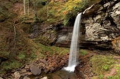 West Virginia's Most Breathtaking Waterfalls - The Falls of Hills Creek is the glittering jewel in the crown of the Monongahela National Forest.