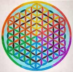 Spectrum flower of life mandala by ~Aneniko