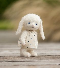 Cute Mohair Teddy Bear Bunny Doll Pattern by SoTreasuredShop Bunny Toys, Rabbit Toys, Bunny Rabbit, Bunnies, Stuffed Animals, Stuffed Animal Patterns, Matilda, Teddy Bear Clothes, Elephant Pattern