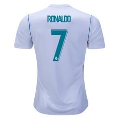 FAN+SHIRT+Ronald+Real+Madrid+soccer+2017/18+Home+#CR7+Jersey+-+White/Jersey+New+Free+Shipping