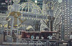 The Honeymoon Express.  An attraction at Luna Park, Coney Island, New York.