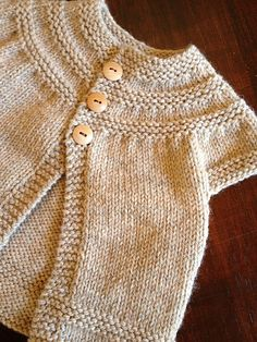 http://www.ravelry.com/patterns/library/in-threes-a-baby-cardigan a baby cardigan by Kelly Herdrich