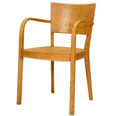 Max Ernst Haefeli Swiss Design Armchair Birch, 1926 | From a unique collection of antique and modern armchairs at https://www.1stdibs.com/furniture/seating/armchairs/