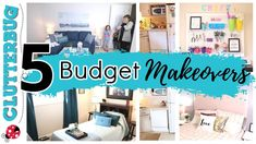5 Budget Room Makeovers - Cluttered to Clean Before and Afters