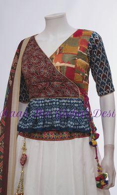 CHOLI-[navratri_chaniya_choli]-[chaniya_choli_online_USA]-[chaniya_choli_for_garba]-[chaniya_choli_for_navratri]-Raas The Global Desi Gharara Designs, Saree Kuchu Designs, Fancy Blouse Designs, Blouse Neck Designs, Blouse Styles, Cotton Dress Indian, Indian Dresses, Indian Outfits, Choli Blouse Design