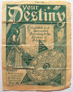 1940s YOUR DESTINY BOOKLET: Psychic Advice, Astrology & Dream Interpretation