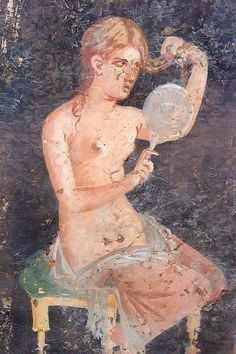 Roman painting erotic fresco