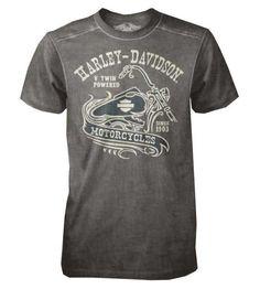 Harley-Davidson Men's Black Label T-Shirt, V-twin Short Sleeve Tee 30293148 (M)