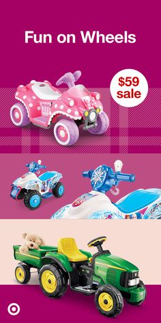 Discover awesome electric ride-on toys to give the kids this holiday season. There's a $59 sale on Frozen 2 or Minnie 6V Ride-Ons + 10% off select electric ride-on toys at Target. Give them gifts with hours of fun.