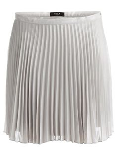 VISINA - PLEATED SKIRT, Light Grey Melange