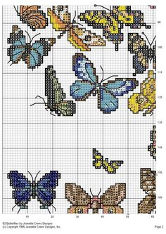 Cross stitch butterfly and chart. Gallery.ru / Фото #3 - 186 - elypetrova