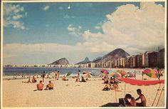 Rio de Janeiro - Copacabana Beach - 1950s Postcard by raisonettes, via Flickr