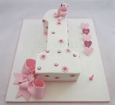 Number 1 cake, first birthday cake, number one cake, girl first birthday cake Number Birthday Cakes, 1st Birthday Cake For Girls, Baby Birthday Cakes, Birthday Cake Toppers, First Birthday Parties, First Birthdays, Birthday Ideas, Number One Cake, Number Cakes
