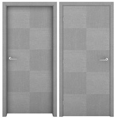 Grey Oak Checkers Interior Door - Grey Oak Interior Doors - Doors