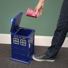 ThinkGeek :: Doctor Who TARDIS Waste Basket