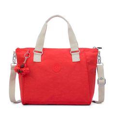 Bolsa de mão Amiel laranja Coral Rose C Kipling 635cbc06620