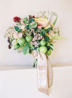 Succulent and Flower Bouquet With Lace Ribbon   photography by http://www.jenhuangphoto.com/   floral design by http://sarahwinward.com/  