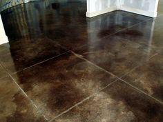 dark concrete stain