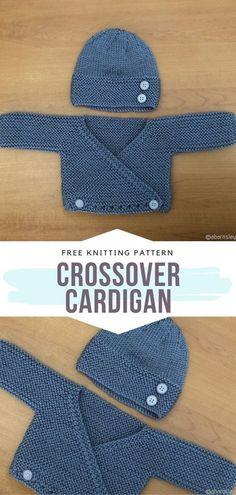 Boys Knitting Patterns Free, Baby Cardigan Knitting Pattern Free, Knitted Baby Cardigan, Knit Baby Sweaters, Knitted Baby Clothes, Free Knitting, Baby Knits, Crochet Patterns, Knitting Needles