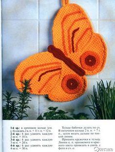 Edivana Croche: Pega Panelas Boboleta