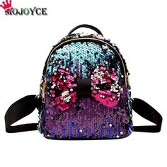 2bc35ebbfb 2018 Mini Sequin Backpack Women Girls Zipper Travel Shining Bag Female  School Bag for Teenager Girl Sac a Dos Mochila Feminina