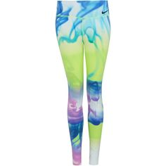 Nike Yellow Legendary Lava Tight Training Leggings ($120) ❤ liked on Polyvore featuring activewear, activewear pants, pants, leggings, bottoms, sport, active wear, nike sportswear, nike activewear and nike