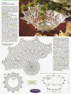 moje pasje, moje marzenia: wzory koszyczków szydełkowych:) Crochet Leaf Patterns, Crochet Doily Diagram, Crochet Leaves, Freeform Crochet, Crochet Chart, Thread Crochet, Filet Crochet, Crochet Doilies, Crochet Vase