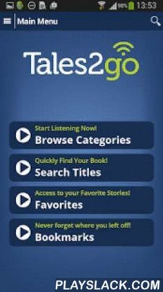 Tales2go  Android App - playslack.com ,  Tales2go is your partner in the fight for better literacy. Children must be good listeners before they can become great students. Repeated exposure to spoken sophisticated words drives vocabulary acquisition and retention, which is a key component of reading proficiency. Reading proficiency, in turn, is critical to academic success. Tales2go makes it easier and more cost-effective to add a listening component to reading instruction. The company…