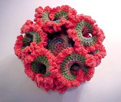 Crocheted Hyperbolic Pseudosphere - It Weighs Five Ounces, So Much Yarn ...