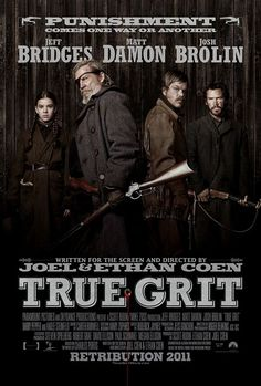 "True Grit (2010) After drifter Tom Chaney murders her father, 14-year-old Mattie Ross hires alcoholic U.S. Marshal Reuben ""Rooster"" Cogburn to help her exact revenge. The disreputable lawman still has grit, though, and mounts an epic search. Jeff Bridges, Matt Damon, Hailee Steinfeld...western"