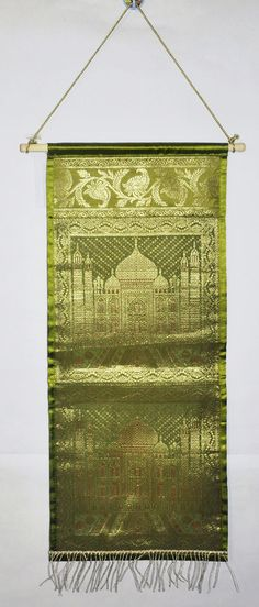 Traditional Indian Handmade Designer Brocade Silk Decor Wall Hanging Tapestry #Lalhaveli