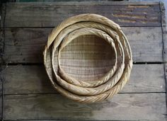 vintage nesting basket bowls by littlebyrdvintage on Etsy https://www.etsy.com/listing/151276239/vintage-nesting-basket-bowls