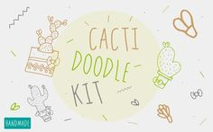 Cacti Doodle Kit by Buni Line on @creativemarket