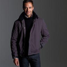 Sherpa-lined deck jacket