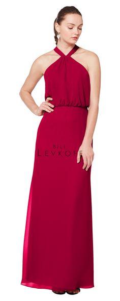 d1938eadfcc3d Bill Levkoff Bridesmaid Dresses, Bridesmaid Dress Styles, Bridesmaids,  Halter Gown, Dress For