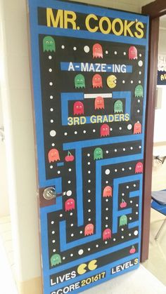 Pacman Themed Classroom Door Display For The New Class
