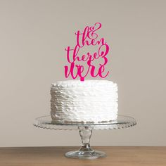 And then there were... three Cake Topper by FunkyLaser on Etsy