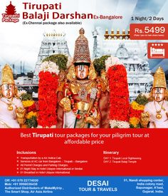 #Tirupati #Balaji #Darshan #Tour #Package  We are specialized in Tirupati Tour Packages. We have well planned Tirupati tour packages and we also provide #customized #tour #packages as per your requirement.