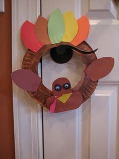 paper plate turkey craft