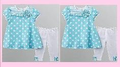 Description  NWT GIRL TODDLER POLKA DOTS DRESS OUTFIT SET SZ 3T  The dress features an adorable polka-dot pattern and a blooming flower detail.  The pants have a cute ruffle detail and won't restrict her movement.   Two-piece set includes dress ...
