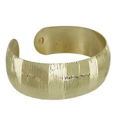 Vermeil Line Diamond Cut Cuff Bracelet