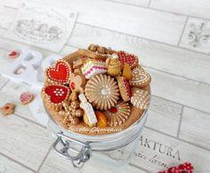 Декоративная посуда ручной работы. Ярмарка Мастеров - ручная работа. Купить Баночка с декором Печенье Новогоднее. Handmade. Декор посуды